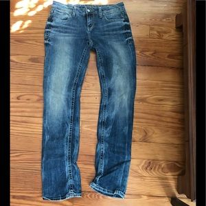 Buckle black straight leg jeans nearly new!